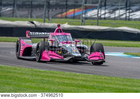 July 03, 2020 - Indianapolis, Indiana, USA: ALEXANDER ROSSI (98) of the United States practices for the GMR Grand Prix at the Indianapolis Motor Speedway in Indianapolis, Indiana.