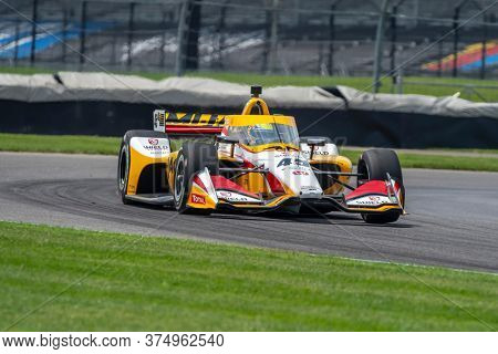 July 03, 2020 - Indianapolis, Indiana, USA: SPENCER PIGOT (45) of the United States practices for the GMR Grand Prix at the Indianapolis Motor Speedway in Indianapolis, Indiana.
