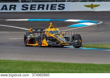 July 03, 2020 - Indianapolis, Indiana, USA: SAGE KARAM (24) of the United States practices for the GMR Grand Prix at the Indianapolis Motor Speedway in Indianapolis, Indiana.