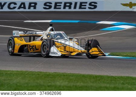 July 03, 2020 - Indianapolis, Indiana, USA: JOSEF NEWGARDEN (1) of the United States practices for the GMR Grand Prix at the Indianapolis Motor Speedway in Indianapolis, Indiana.