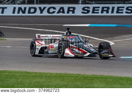 July 03, 2020 - Indianapolis, Indiana, USA: RINUS VEEKAY (R) (21) of Hoofddorp, Netherlands practices for the GMR Grand Prix at the Indianapolis Motor Speedway in Indianapolis, Indiana.