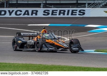 July 03, 2020 - Indianapolis, Indiana, USA: PATO OWARD (5) of Monterey, Mexico practices for the GMR Grand Prix at the Indianapolis Motor Speedway in Indianapolis, Indiana.