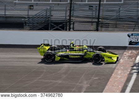 July 03, 2020 - Indianapolis, Indiana, USA: CHARLIE KIMBALL (4) of the United States  qualifies for the GMR Grand Prix at Indianapolis Motor Speedway in Indianapolis, Indiana.