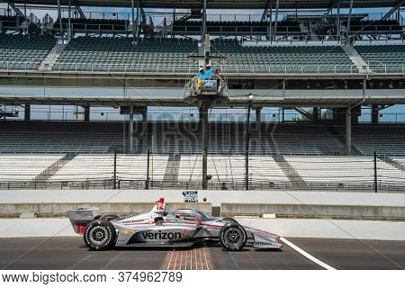 July 03, 2020 - Indianapolis, Indiana, USA: WILL POWER (12) of Toowoomba, Australia practices for the GMR Grand Prix at the Indianapolis Motor Speedway in Indianapolis, Indiana.