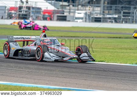 July 04, 2020 - Indianapolis, Indiana, USA: WILL POWER (12) of Toowoomba, Australia  races through the turns during the  race for the GMR Grand Prix at Indianapolis Motor Speedway