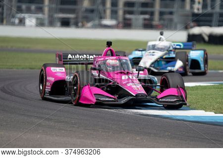 July 04, 2020 - Indianapolis, Indiana, USA: JACK HARVEY (60) of Lincoln, England  races through the turns during the  race for the GMR Grand Prix at Indianapolis Motor Speedway