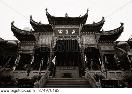 CHONGQING, CHINA – MARCH 13: Chongqing Huguang assembly hall interior on March 13, 2018 in Chongqing. With 17M population, it is the most populous Chinese municipality.
