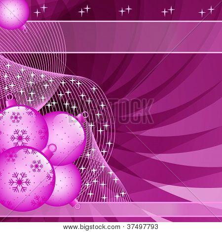 Pink Christmas Balls Abstract