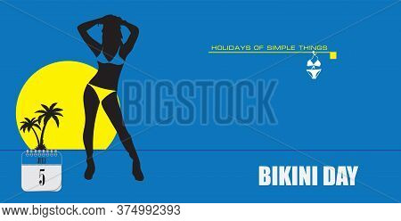 Post Card For Event July Day Bikini Day