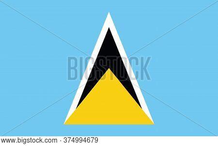 Saint Lucia Flag Vector Graphic. Rectangle Saint Lucian Flag Illustration. Saint Lucia Country Flag