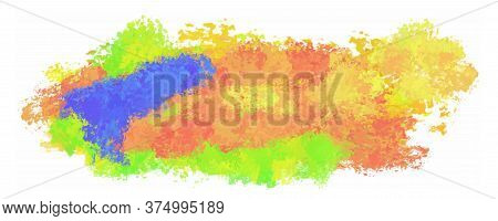 Abstract Background With Brush Strokes. Painting In Impressionism Style. Vector Illustration.