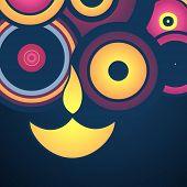 stylish happy diwali vector background poster