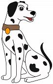 An Illustration of a Dalmatian with Clipping Path poster