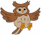 An Illustration of an Owl with Clipping Path poster