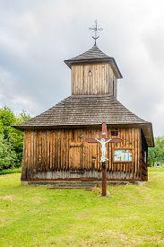 Vysna Polianka,slovakia - June 10,2020 - View At The Wooden Church Of St.paraskeva In Vysna Polianka