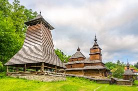 View At The Wooden Church Church Of St.nicholas From Mikulasova In Bardejovske Kupele Town - Slovaki