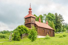 View At The Wooden Church Of Protection Of The Blessed Virgin In Varadka - Slovakia