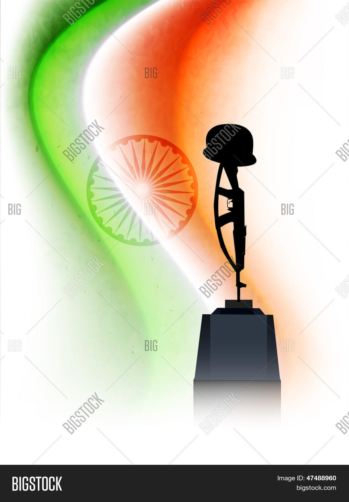 Indian independence vector photo free trial bigstock indian independence day concept with amar jawan jyoti on national flag tricolors wave altavistaventures Choice Image