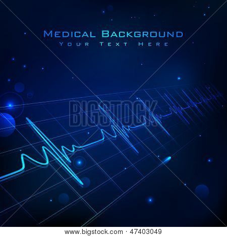 illustration of heart beats on Healthcare and Medical background