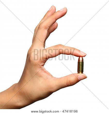 Bullet In Woman Hand