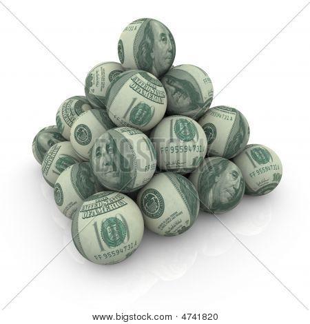 Pyramid Of Hundred Dollar Balls