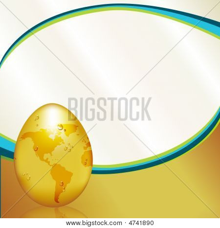 Earth Day Gold Egg