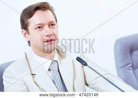 Businessman at meeting