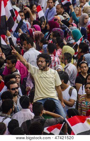 Egyptian Activist Protesting Against Muslim Brotherhood