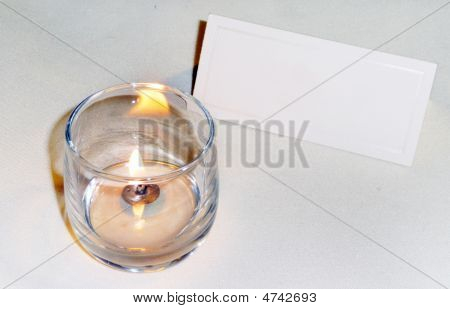 Candle And Place Setting