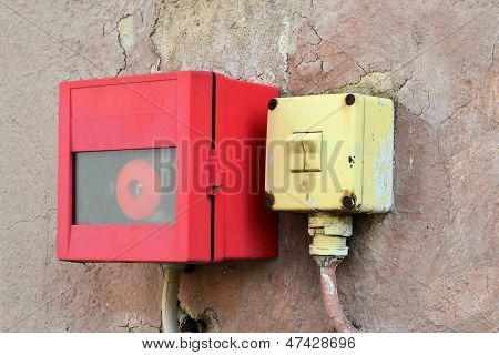 Light switch and alarm button