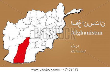 Afghanistan Helmand Highlighted