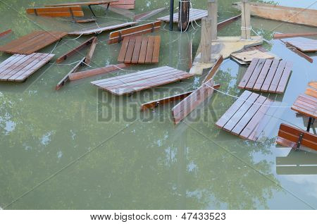 Flooded Tables And Benches