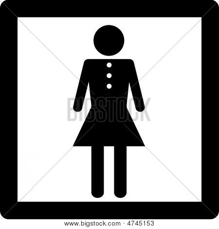 Female Symbol Lady In Dress