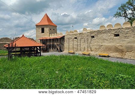 Rupea newly renovated medieval fortress in Transylvania, Romania