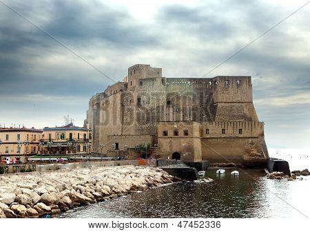 Castel dell'Ovo (Egg Castle) Italy. Naples.