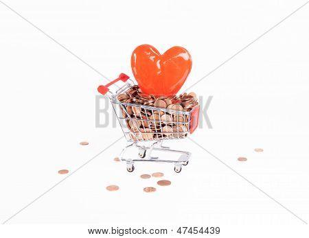 shopping heart