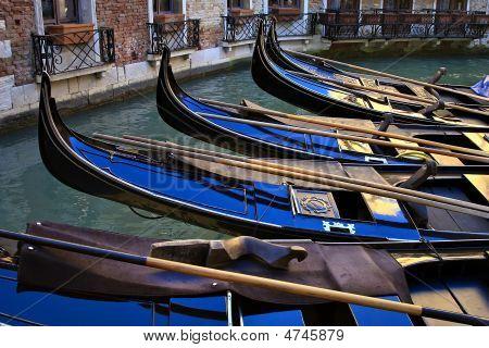 Group Of Venice Gondolas