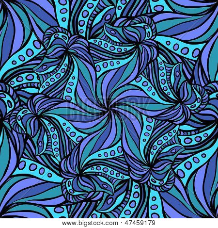 Seamless Pattern With Fantastic Flowers
