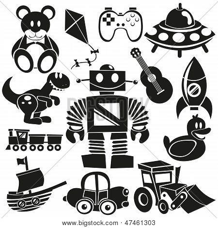 Vector Cartoon Toys Icons