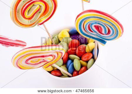 lollipops and smarties