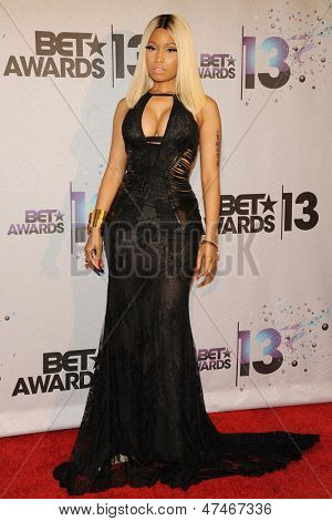 LOS ANGELES - JUN 30: Nicki Minaj at the 2013 BET Awards at Nokia Theater L.A. Live on June 30, 2013 in Los Angeles, California