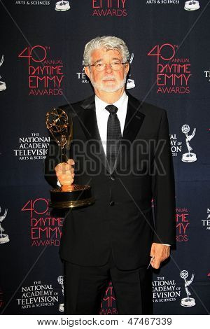 BEVERLY HILLS - JUN 16: George Lucas at the 40th Annual Daytime Emmy Awards at The Beverly Hilton Hotel on June 16, 2013 in Beverly Hills, California