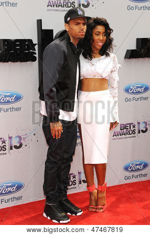 LOS ANGELES - JUN 30: Chris Brown, Sevyn Streeter at the 2013 BET Awards at Nokia Theater L.A. Live on June 30, 2013 in Los Angeles, California