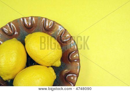 Lemons On Purple Plate 2