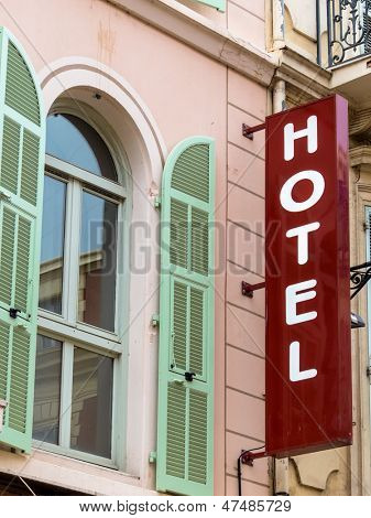 hotel, symbolic photo for hospitality, travel, service. sign of a hotel