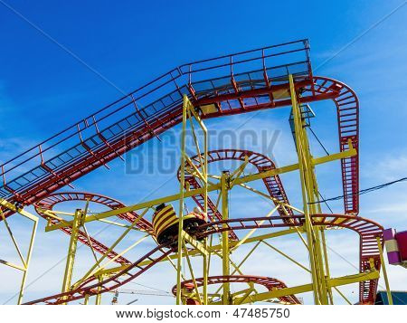 ride at a carnival, symbolic photo for pleasure, recreation, thrill