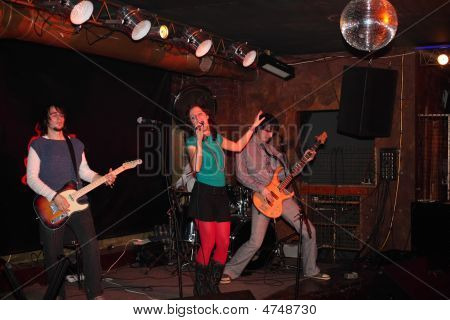Rock Music Band On Stage