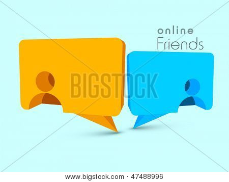 Happy Friendship Day background with speech bubble. poster