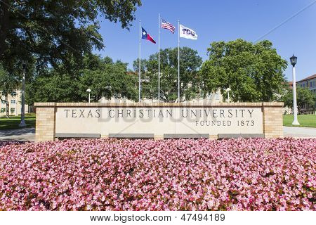 FT WORTH - MAR 15:  Texas Christian University (TCU) is a private, coeducational university located in Fort Worth, Texas, United States on March 11, 2013.