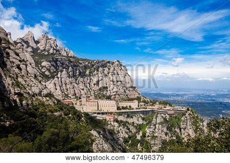 Montserrat Monastery Near Barcelona, Catalonia, Spain.